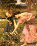 rose famous paintings - gather ye rosebuds while ye may by john william waterhouse