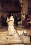 water oil paintings - mariamne leaving the judgement seat of herod by john william waterhouse