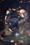 water oil paintings - nymphs finding the head of orpheus by john william waterhouse