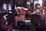 water oil paintings - penelope and the suitors by john william waterhouse
