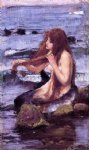john william waterhouse sketch for a mermaid painting