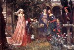 water oil paintings - the enchanted garden by john william waterhouse