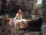 john william waterhouse the lady of shallot painting