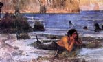 john william waterhouse the merman sketch painting