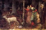 water oil paintings - the mystic wood by john william waterhouse