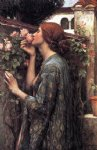 waterhouse watercolor paintings - the soul of the rose by john william waterhouse