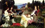 john william waterhouse waterhouse saint cecilia painting
