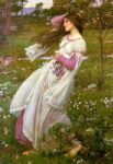 john william waterhouse waterhouse windswept painting
