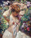 la toilette by jose royo painting