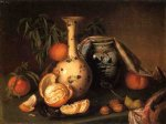 joseph biays ord art - still life with vase fruit and nuts by joseph biays ord