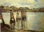joseph decamp print - jetty at low tide aka the water pier by joseph decamp