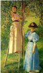 joseph decamp famous paintings - the pear orchard by joseph decamp