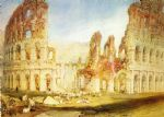 turner famous paintings - rome the colosseum by joseph mallord william turner