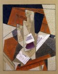 bottle by juan gris painting