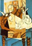 juan gris acrylic paintings - breakfast by juan gris