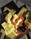 guitar watercolor paintings - guitar and fruit dish ii by juan gris