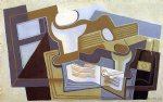 guitar watercolor paintings - guitar and fruit dish iii by juan gris