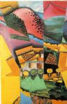 juan gris acrylic paintings - landscape at ceret by juan gris