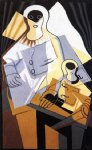 juan gris original paintings - pierrot by juan gris