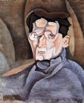 juan gris portrait of maurice raynal painting-29879