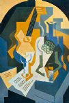 juan gris still life w fruit and mandolin painting 29891