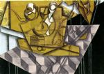 juan gris acrylic paintings - teacups by juan gris
