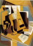 juan gris acrylic paintings - the guitar 1918 by juan gris