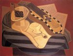 the guitar with inlay by juan gris painting
