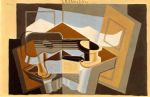 the mountain le canigou by juan gris painting