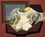 the table in front of the picture by juan gris painting