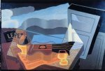view across the bay by juan gris painting