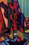 violin and guitar by juan gris painting