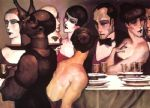 juarez machado acrylic paintings - gala entree amis by juarez machado