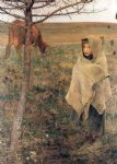 jules bastien lepage watercolor paintings - pauvre fauvette by jules bastien lepage