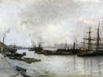 thames london by jules bastien lepage painting