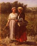 les vendanges a chateau lagrange by jules breton painting