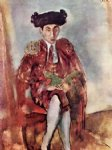 jules pascin art - alfred flechtheim dresses as a toreador by jules pascin