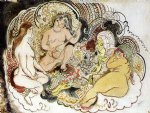 jules pascin an oriental and his women painting