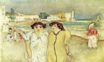 jules pascin art - at the edge of a lake in tunisia by jules pascin