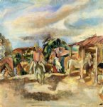 jules pascin art - cuban village by jules pascin