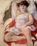 jules pascin art - dancer at the moulin rouge by jules pascin
