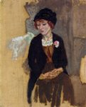 hermine in a black hat by jules pascin art