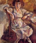 hermine on a chair by jules pascin art