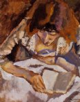 hermine reading by jules pascin art