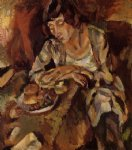 hermine with fruit by jules pascin art