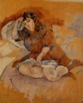 italian girl seated by jules pascin art