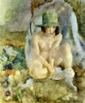 nude with a green hat by jules pascin art