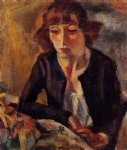 jules pascin portrait of hermine david painting-29705