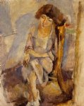 jules pascin seated portrait of hermine david painting-29723