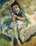 jules pascin woman with a parasol painting